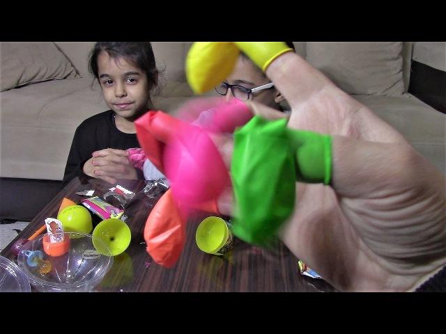 RENKLERİ ÖĞRENİYOR - Little Mommy feeds Funny Baby Finger Family Baby Song Numbers Balloons Learn