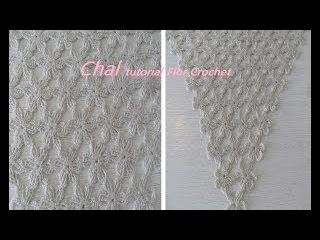 Chal tutorial Flor Crochet o Ganchillo crochet paso a paso #82