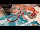 Fluid Painting Acrylic STRING SWIPE Fluid Art WIGGLZ ART Please Share and Subscribe