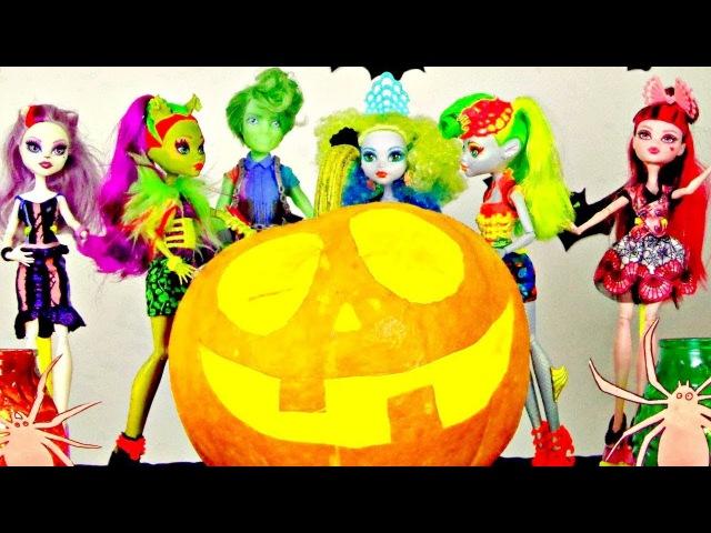 Giochi per bambini ita- Zucca di Halloween e le nuove bambole MonsterHigh- La Festa con giocattoli