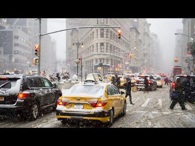 NEW YORK CITY 2018 WINTER has NO MERCY 4K