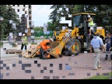 Работы по созданию памятника Илье Шатрову и Василию Агапкину
