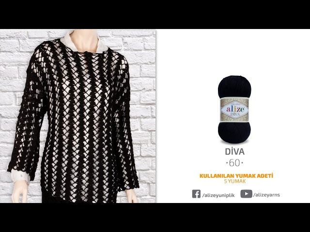Alize Diva ile Tığ İşi Bluz Yapımı-Making Crochet Work Blouse with Alize Diva