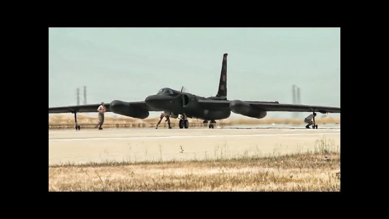 U-2 Spy Plane Takeoffs Landings With Chase Car Views