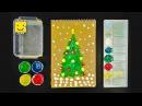 Как нарисовать новогоднюю елку пальчиковыми красками Урок рисования для детей от 2 лет