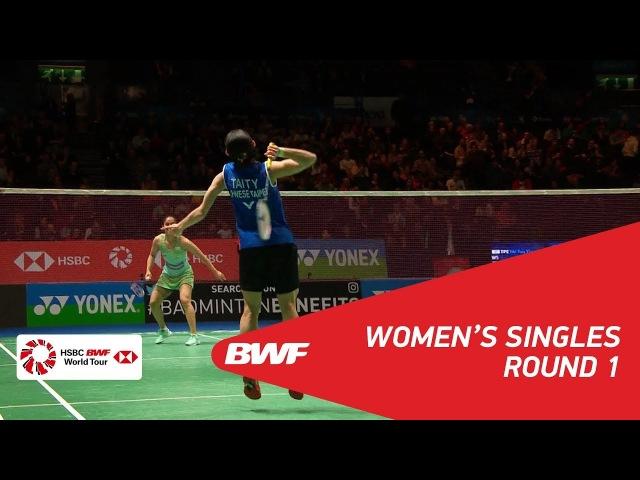 WS   TAI Tzu Ying (TPE) [1] vs Saina NEHWAL (IND)   BWF 2018