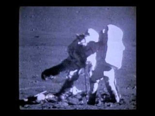 Apollo17 - Astronaut falls over in 1/6th gravity