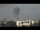 Сирия 13 01 18 авиаудары ВВС САР по бармалеям в восточной Гуте