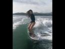 Serfing girl