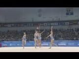 Сборная России по художественной гимнастике выступает под песни