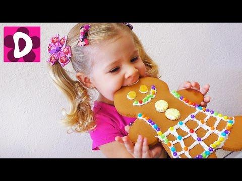 DIY Делаем Огромные Печеньки-Человечки из Шрека в футболках Щенячий Патруль ✿ Kids Diana Show