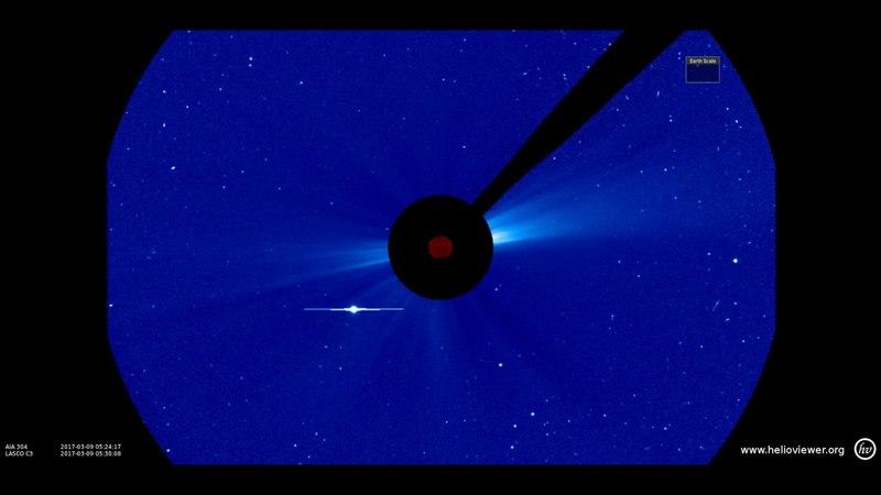 Nibiru Coming AIA 304, LASCO C3 (2017-03-02 10:30:29 - 2017-03-16 08:12:41 UTC)