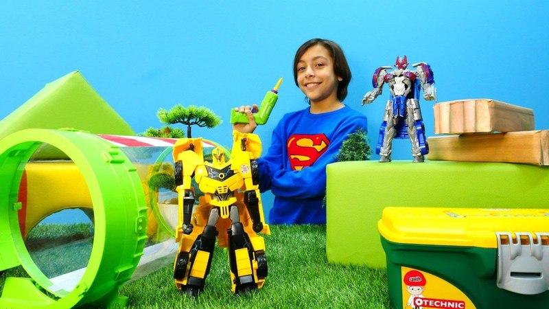 Transformers oyunları. Autobot Bumblebee'nin boyunu uzatıyoruz