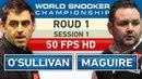 Ronnie OSullivan v Stephen Maguire R1 S1 2018 World Snooker Championship