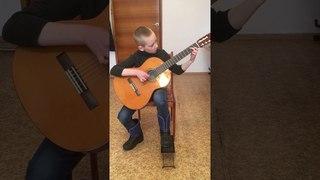 Тиханов Сергей 8 лет 1 класс. О. Киселёв «Баллада рыцаря »