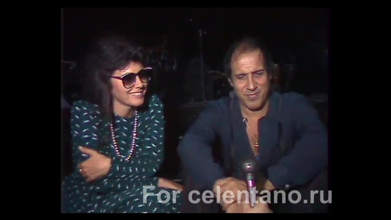 Полное интервью c Адриано Челентано и Клаудией Мори (Москва,1987)