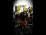 Неонацисты катаются по Львову в фашистской форме и под украинскими флагами