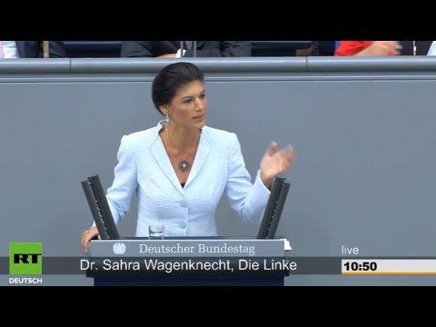 Сара Вагенкнехт: Только больной может утверждать, что Путин захватит Берлин! [Голос Германии]
