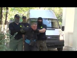 Видео задержания двух россиян, подозреваемых в шпионаже в пользу Украины