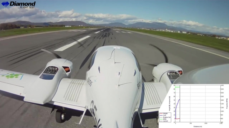 DA 42 NG Demonstration Engine Failure during Take-off
