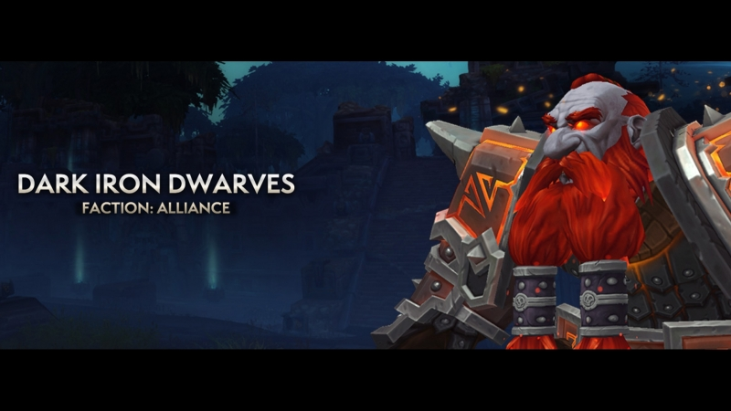 Dark Iron Dwarf Character Select Screen - Battle for Azeroth