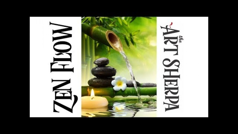 How to paint with Acrylic on Canvas Mindful Zen fountain Garden