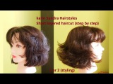 Haircut tutorial : Short layered Bob haircut with Bangs for women y girls | Short haircut tutorial