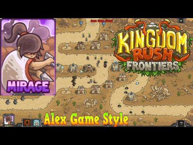 Kingdom Rush Frontiers HD || Dunes of Despair Campaign Level 4 || Hero Mirage