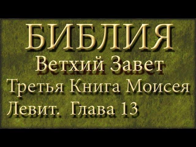 Библия.Ветхий завет.Третья книга Моисея Левит.Глава 13.