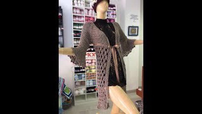 Crochet tutorial saco chaqueta facil