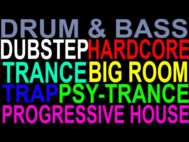 Top 60 EDM Sub-Genres (examples)