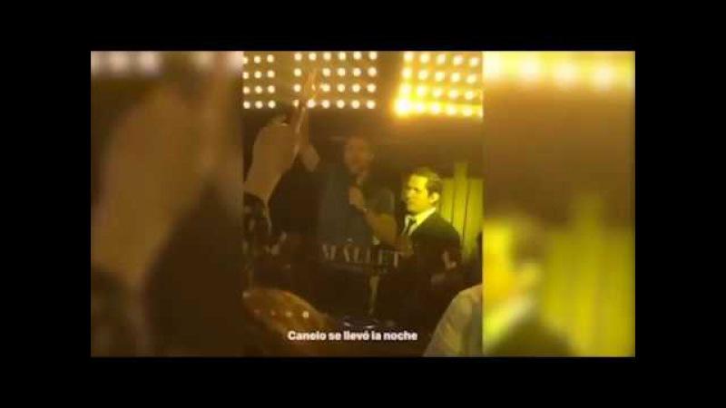 Canelo Álvarez regala botellas de champán de 3 mil pesos en antro