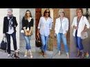 Как носить джинсы после 50 и не выглядеть дешево 💎 Как быть стильной, с чем носить женские джинсы?