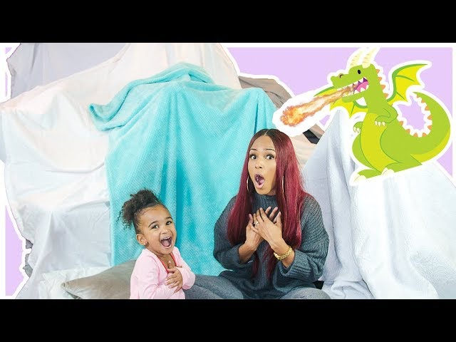 TODDLER AND MOMMY MAKE A GIANT FORT 🏰