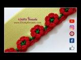 How to Crochet Beautiful Flower Design Border | Saree Tassels |Latest Creation|www.knottythreadz.com