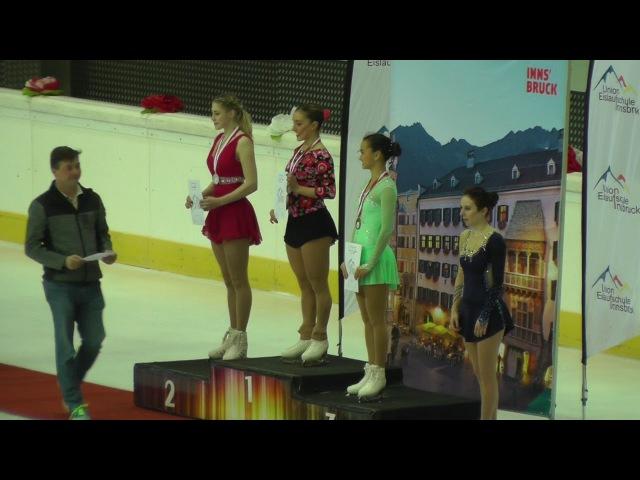 Cup of Tyrol 2018 medal ceremony ladies