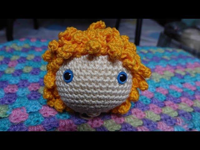 Como tejer cabello rizado a crochet para amigurumi