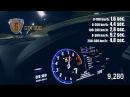 Разгон 0-300 KM/H LAMBORGHINI HURACAN TWIN TURBO GTT-900 BY GOSHA TURBO TECH