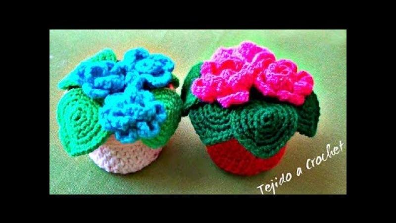 Maceta Tejida a Crochet - MINi Macetita I!!