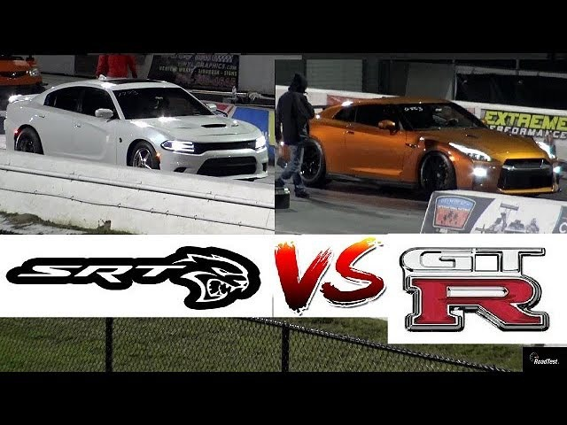 GT-R Newbie vs 900 HP HELLCAT Charger - 1/4 Mile Drag Race - Road Test®