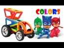 Magformers and PJ Masks toy for kids learn colors with toys for toddler