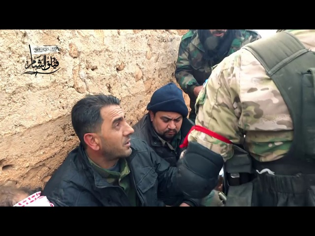 Reaction of the tyranny of the Sham Corps ll prisoners of the Lion gangs inside the town of Al Khoein during its liberation