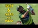 Boom Boom shahid afridi Top 6 sixes vs India Best six records against india ashwin in cricket