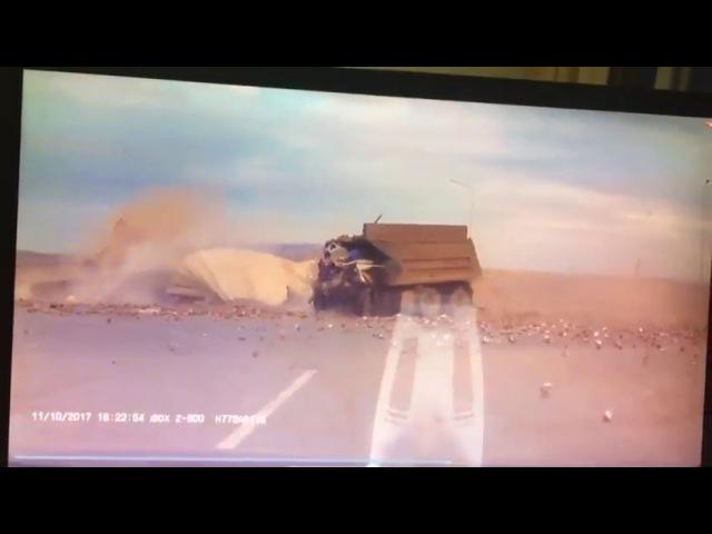 Авария в Татарстане, на трассе Заинск - Челны (как все это было заснял регистратор)