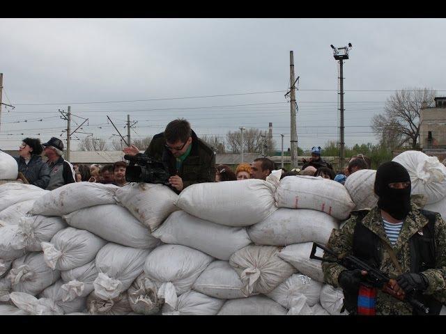 Митинг у стен Константиновского исполкома 28 апреля 2014 г.