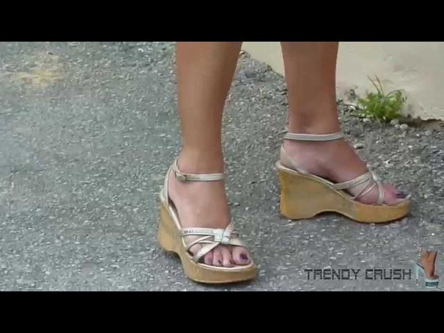 High Heels Wedge 016v T8 Black Enamel 001