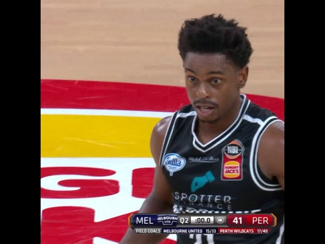 But there's nothing wrong with this Casper Ware buzzer beater from deep to close out the first half of PERatMEL