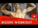 Quick Explosive Biceps Workout - Part 1 | Sushant Singh |