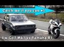 VW Golf Mk1 1056HP vs Yamaha R1 182HP street race Full Version CMIYC 1
