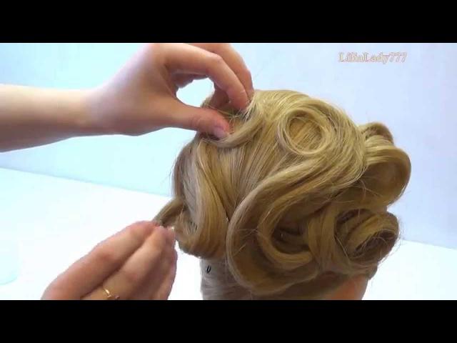 Изящная свадебная прическа на средние волосы. Мастер-класс! Смотри как просто!